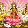 Maa Lakshmi with Lord Ganesha Wallpapers, Pictures, images Download
