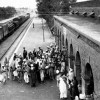 Old Pictures of Beas Railway Station with Maharaja Sawan Singh ji and Sewak