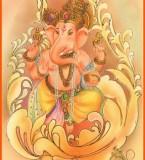 Painting Photos of Lord Ganesha
