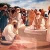 Baba Budha Sahib ji Foundation of Harmandir Sahib Photograph with Guru Arjan Dev Ji