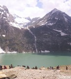 Beautiful View of Sheshnag Lake Picture at Amarnath