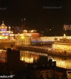 Beautiful Night view photographs of Harmandir Sahib fully decorated with lights