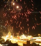 Diwali 2011 Night images of Golden Temple with Atish bazi, Amritsar