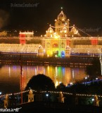 Golden Temple Beautiful Photos decorated with Lights at Diwali