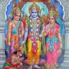 Beautiful Picture of Ram, Sita, Lakshman and Hanuman Bhagwan