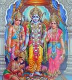 Beautiful Picture of Ram, Sita, Lakshman and Hanuman Bhagwan