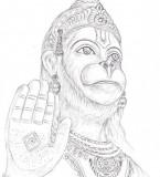Bhagwan Shri Hanuman Drawing Photos