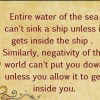 Entire water of the sea can't sink – Daily Good Thoughts (Suvichar)