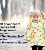 One half of our Heart Always knows that – Daily Good Thoughts (Suvichar)