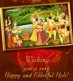 Happy Holi Radha Krishna Photos – Hindu God Holi Greetings Pictures