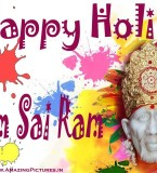 Sai Baba Happy Holi Greetings, Wishes, Pictures, Messages, Quotes