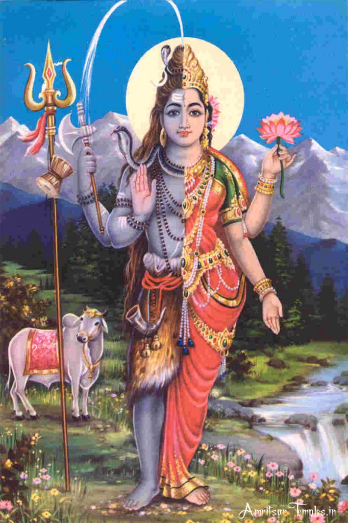 Lord-Shiva-as-Ardhanareshwa