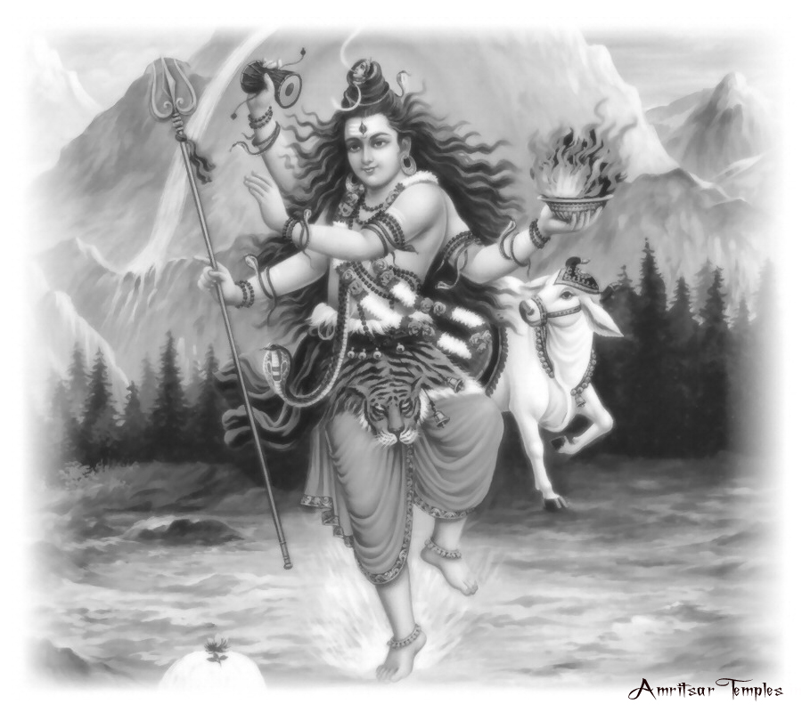 Pencil Painting Photos of Lord Shiva