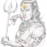 LORD sHIVA Pencil Painting