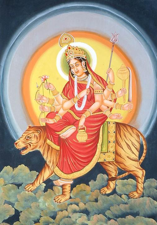 Maa Durga Face Painting
