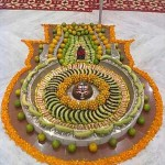 Markandeshwar Mahadev Shiva Lingam Shingar decorated with Fruits images