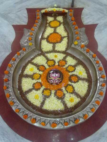 Shivala Shri Markandeshwar Mahadev Shiv Lingam Shingar Pictures decorated with Flowers