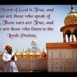 The Word of God is True and True are those who speak of God  Motivational Good Quotes