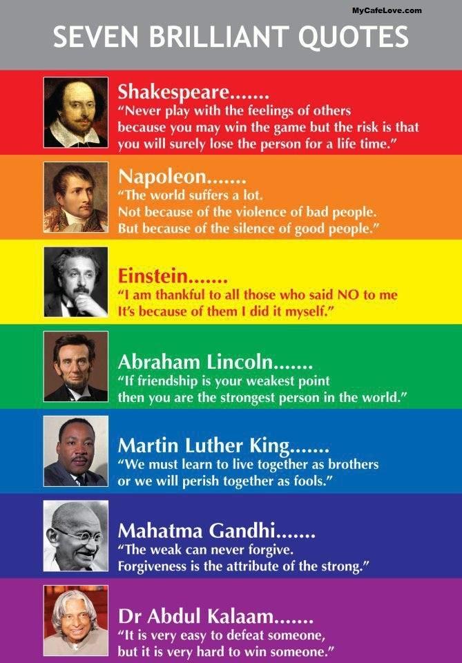 7 briallant quotes