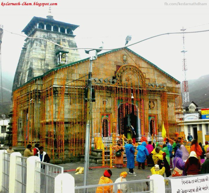 Kedarnath Temple Decorated With Beautiful Flowers Photos