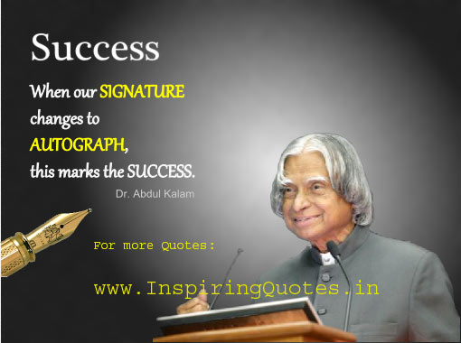 motivational inspirational quotes thoughts apj abdul kalam success