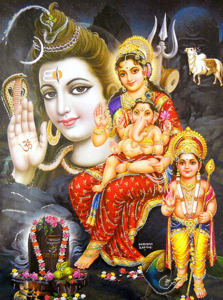 Shiv Parivar Beautiful Images - Lord Shiva and Parvati Family Wallpapers Pictures Download