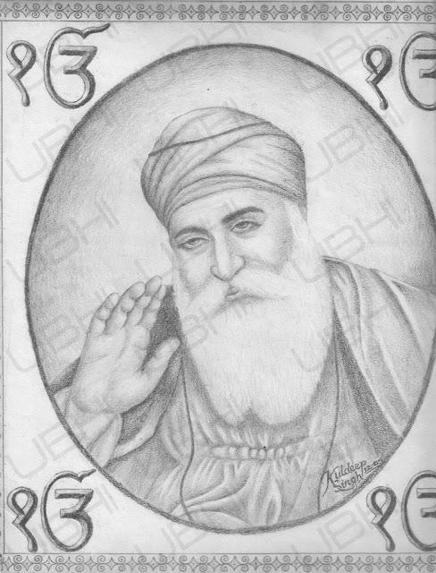 guru nanak dev ji Pencil drawing Images Wallpapers ...