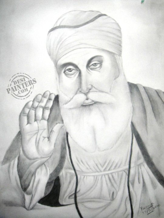 guru nanak dev ji drawing Images Wallpapers